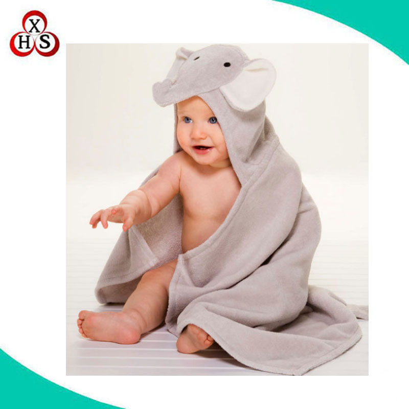 custom baby hooded towel bamboo baby hooded bath towel factory