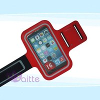 Mobile phone armband ,sporty armband case with Key holder and Headphone jack , armband for iphone 6