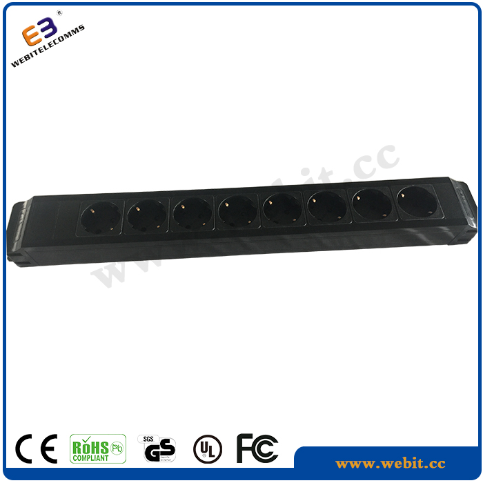 Plug And Play,Metal ,Germany Type Sockets Power Strip Material 8 Ports ,New Design