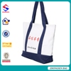 Promotion new reusable shopping bag with zipper black tote bag