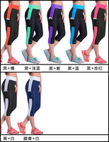 2015 Spandex Elastane Womens Fitness Yoga Pants Black Plain Workout Leggings Running Tights Breathable Gym Wholesale Yoga Pants