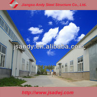 Industrial steel structure frame factory building