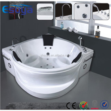 Antique style indoor small bathroom mobile free standing sitting bathtub with led light ,small massage whirlpool bathtub