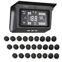 188Psi External sensor 6-8-10-12-14-16-18-26 wheels Tire Pressure Monitoring system solar power Trailer bus truck TPMS