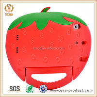 3D Strawberry Shape Shock Resistant Cover for apple ipad mini case for kids