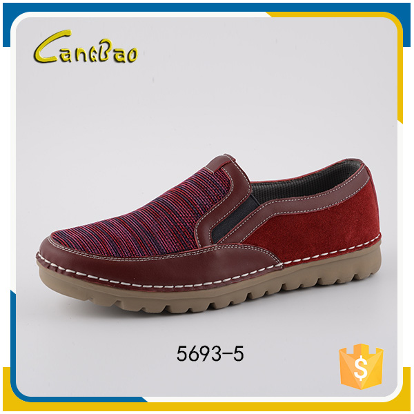 New style red slip-on comfortable casual leader shoes for men