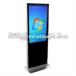42inch floor standing touch screen monitor built in mini pc (D525,i3,i5,i7 solution)
