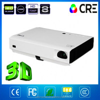 Cre X3000 1080p 3d home theater projector with 3d glasses portable dlp projector