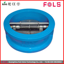 water cast iron dual plate sandwich check valve