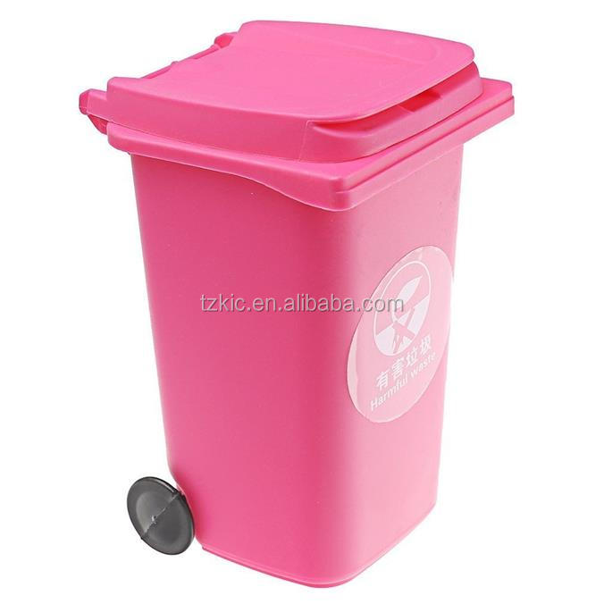 DESKTOP WHEEL BIN STATIONARY PENCIL HOLDER OFFICE ORIGANIZER PINK/RED/GREEN