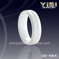 5mm white one groove ceramic parts
