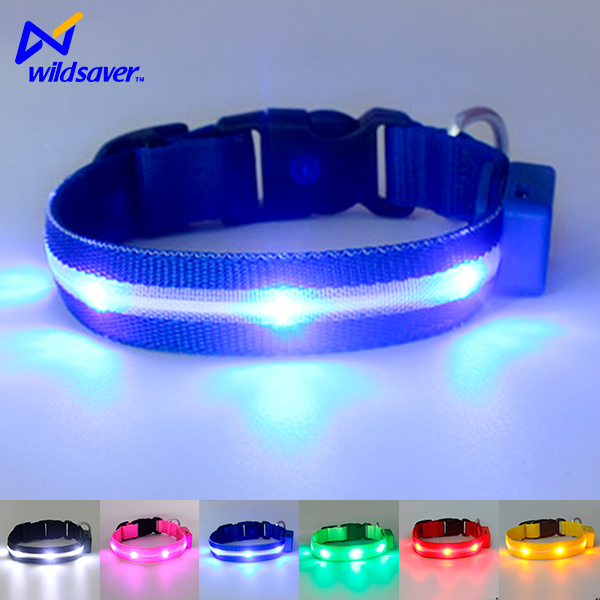 2016 fluorescent led flashing dog collars factory for christmas