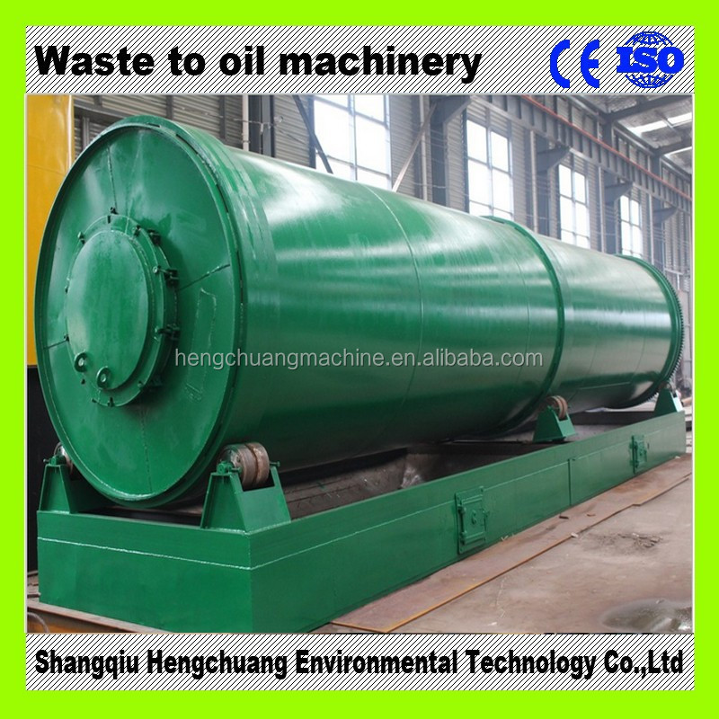 Continuous 24h non-stop waste plastic pyrolysis oil plant CE ISO certificated