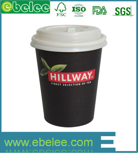 8oz /12oz/16oz disposable hot drink coffee paper cups with lids and sleeves