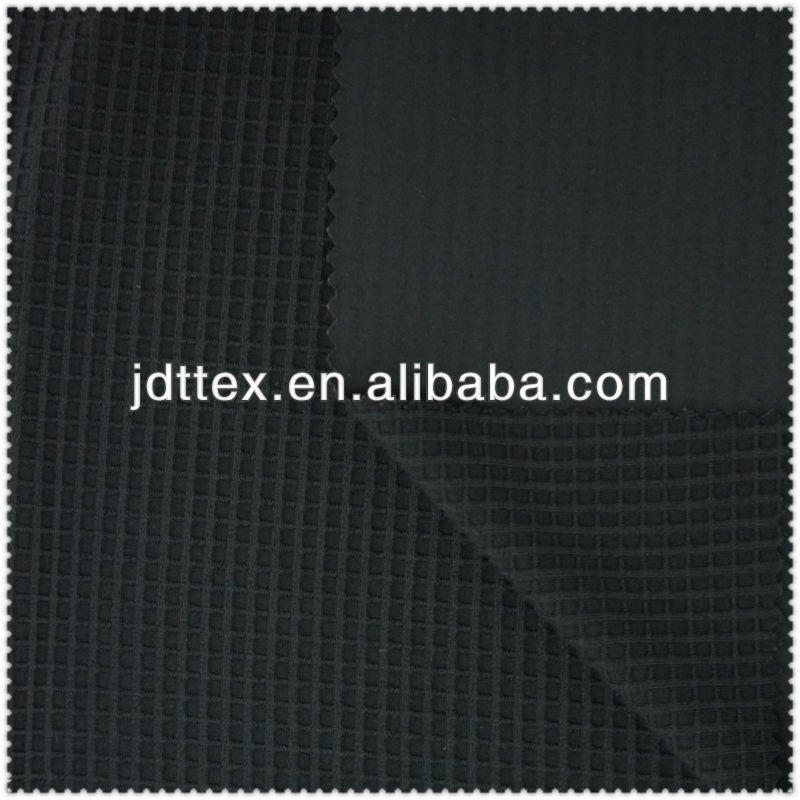Spandex nylon warp knitted waffle fabric for fitness