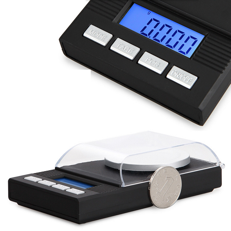 10g/20g/50g/100g 0.001g High Precision Digital Jewelry Scale Diamond Milligram Gram Balance Weight Electronic Weighing Scale