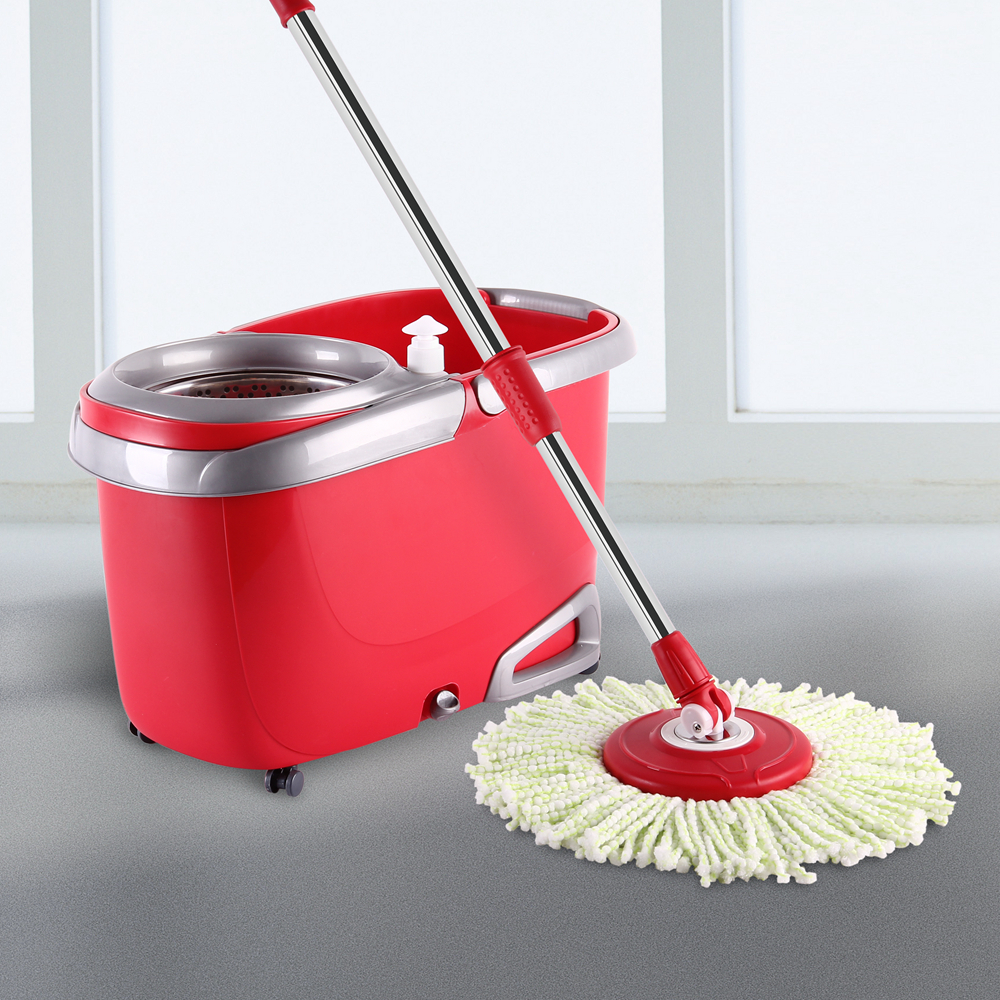 Eco Easy Life Quick Spin Mop ,Floor Cleaner Assemble 360 Spin Magic Mop With 4 Wheel