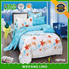 printing cotton luxury silk bedding set/bed sheet fasteners/quilt bed