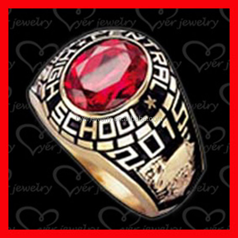 wholesale cheap stainless steel ring high school class