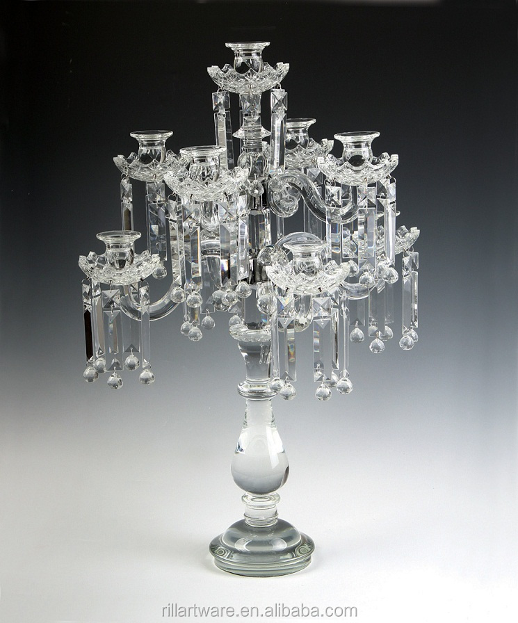 Wholesales Manufacturers Polish Crystal Candlestick wedding candle holder gift