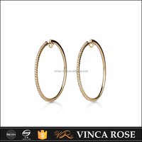 Wholesale customized latest designer glittering and translucent earring jewelry