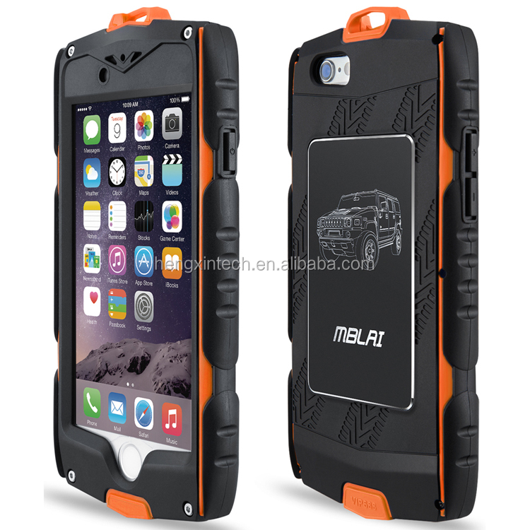 Outdoor Dustproof Shockproof Waterproof PET+ Plastic Protective Shell Phone Case Cover for iPhone6s, 6s plus Sport Hiking