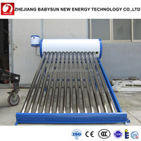 Green Energy Sun Solar Water Heater With Vacuum Tubes Solar Panel