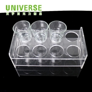 UNIVERSE coffee Drink holder protective display case acrylic Cup stand display rack case