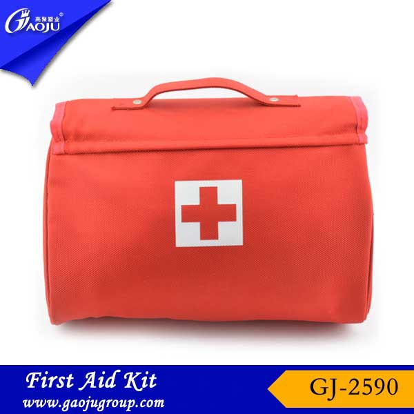 GJ-2590 Hot selling Nylon Material Multi-funtion car first aid kit bag,emergency kit,wholesale first aid kit for car