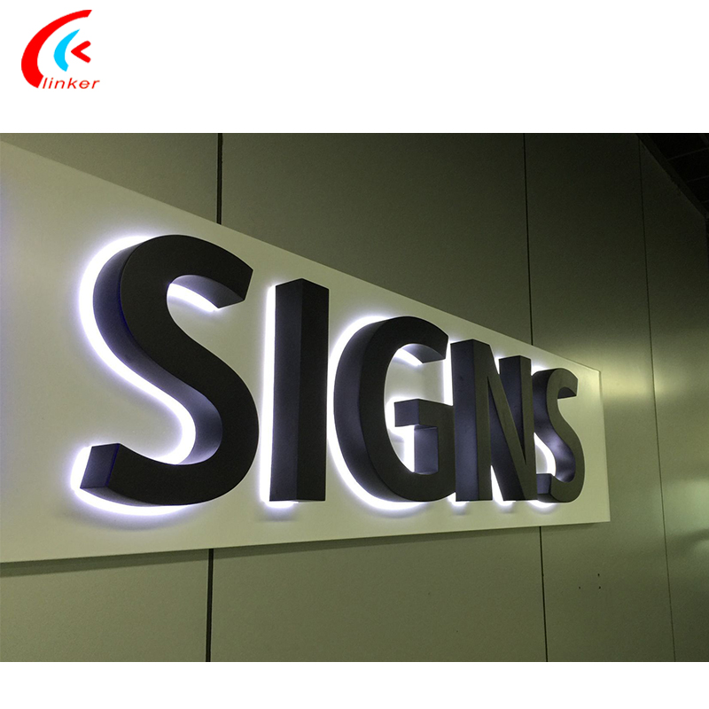 acrylic and metal led lighted letter sign signage