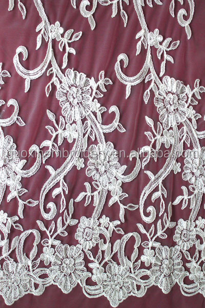 2014 Wholesale Latest French Lace/guipure lace for Wedding Gown