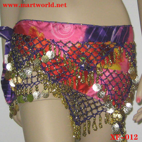 sexy belly dance beaded and coin belts (XF-012)