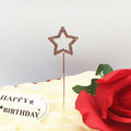 2018 charming silver plated crystal 2.5cm star shape rhinestone cake topper for child party wholesale