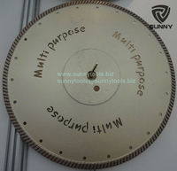 Small Turbo Continuous Rim Diamond Saw Blade Multi Purpose for Granite Marble Sandstone