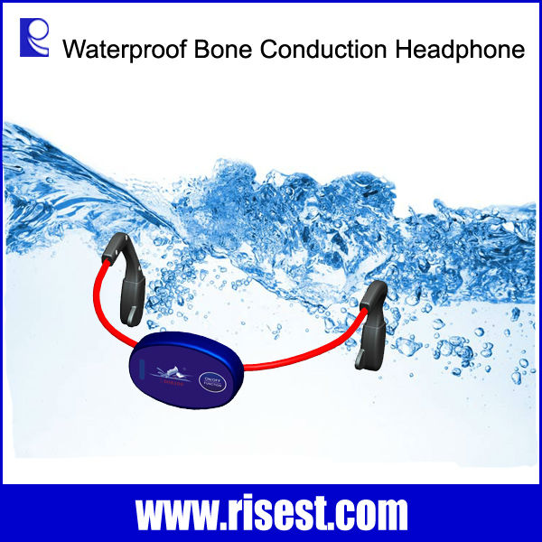 H-902 Swimming Communication System Waterproof Bone Conduction Earphone for Swimmer and Wireless Walkie Talkie for Coach