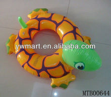 Hot inflatable swim ring in turtle animal shape for kids
