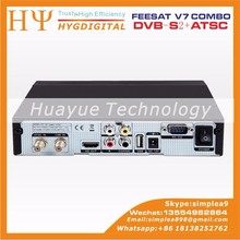 Original ATSC high quality cheap set top box Freesat V7 combo ATSC DVB-S2 BOX digicable set top box