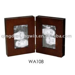 Wood Hinged Photo Album in Dark Brown