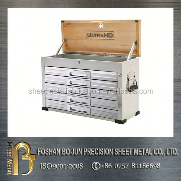 customized high quality product aluminum tool chest with wood cover exports fabrication