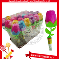 Plastic Bottle Rose Shaped Sweet Toy Candy