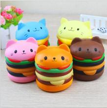 2018 New design kawaii hamburger design slow rising toy squishy toy