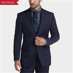 Wholesale Cheap Winter Grey 3 Piece Chambray Tweed Twill/Pinstripe Suit For Old Men
