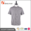 Steel grey Color Stripes Contrast chambray Placket Double Patch Pockets New Model Casual Shirts for Men