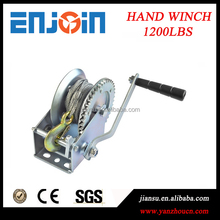 CE SGS approved Manufacturing 1200lbs galvanized mechanical fishing winch with wire rope