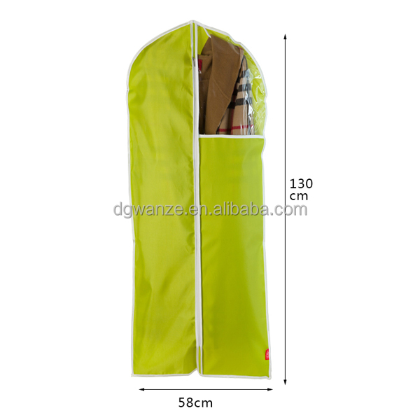 Hot sale green mens disposable foldable yellow nonwoven suit cover/garment bag
