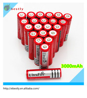 Newest High qulaity UltraFire BRC 18650 battery 3.7V 3000mAh Rechargeable Li-ion Battery with PCB