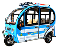Newest 4 seats electric three wheel covered motorcycle