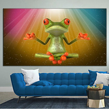 best selling handmade items 3d cartoon funny animals frog designs of fabric painting pictures modern kids room bedroom