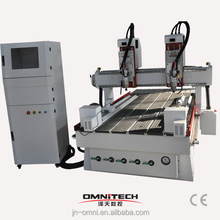 Furniture industry multi-head CNC woodworking machine OMNI 1325/wood cnc engraving machine 1325 wood cnc router