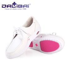 Medical Clinic Work White Lab Shoes White Leather Nursing Shoes